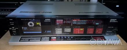 Кассетная дека (магнитофон) AIWA AD-F990E (модель 1986 г., изготовлена в Японии). Харьков, Харьковская область. фото 1