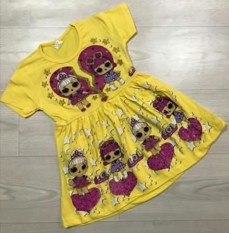 Платье трикотажное LOL р.3-7 Турция. Запорожье. фото 1