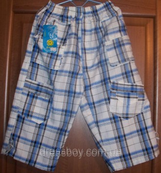 Бриджи для мальчиков. Модель из хлопковой ткани в светлых оттенках. Пояс на рези. Запоріжжя, Запорожская область. фото 2