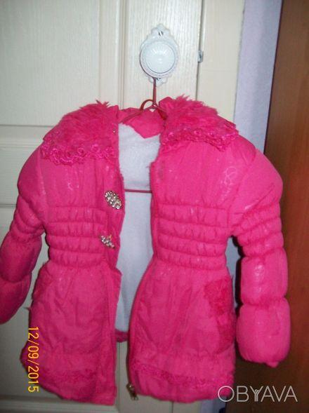 Продам осенне-весеннюю курточку на девочку .  Наполнитель синтепон, флисовая по. Чернигов, Черниговская область. фото 1