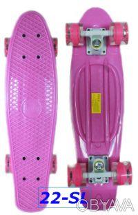 Скейт penny 22-SL skate board fish cruiser пенни 56см светящиеся колеса Размер:. Киев, Киевская область. фото 4