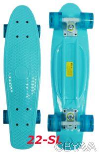 Скейт penny 22-SL skate board fish cruiser пенни 56см светящиеся колеса. Киев. фото 1