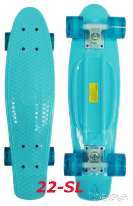 Скейт penny 22-SL skate board fish cruiser пенни 56см светящиеся колеса Размер:. Киев, Киевская область. фото 1