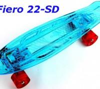 Скейт Penny Board 22-SD прозрачная светящаяся дека пенни лонгборд Cruiser Fish L. Київ, Київська область. фото 10