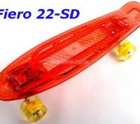 Скейт Penny Board 22-SD прозрачная светящаяся дека пенни лонгборд Cruiser Fish L. Київ, Київська область. фото 9