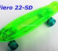 Скейт Penny Board 22-SD прозрачная светящаяся дека пенни лонгборд Cruiser Fish L. Киев, Киевская область. фото 8