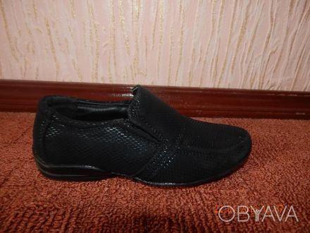 Продам новые красивые туфли для маленького модника Размер 24 по стельке 16,5см. Київ, Київська область. фото 1