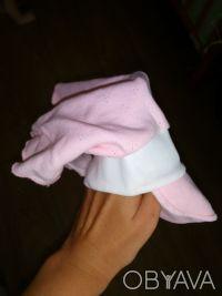 Почти новая косынка молочного цвета на девочку. Розовая с дефектом (не правильно. Кривой Рог, Днепропетровская область. фото 3