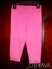 1) Розовые  леггинсы на 4 года,CARTER'S,цена-55гр. размеры:длина-42см.   ПОП-22. Киев, Киевская область. фото 2