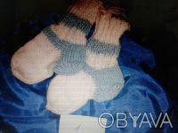 носки ручная вязка размер для маленьких 12-14 размер возможно связать под заказ.. Київ, Київська область. фото 2