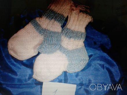 носки ручная вязка размер для маленьких 12-14 размер возможно связать под заказ.. Київ, Київська область. фото 1