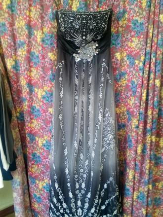 Выпускное платье в пол. Васильковка. фото 1