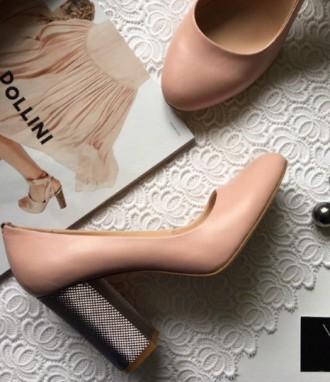 Туфли Лодочки из кожи цвета пудра. Ивано-Франковск. фото 1
