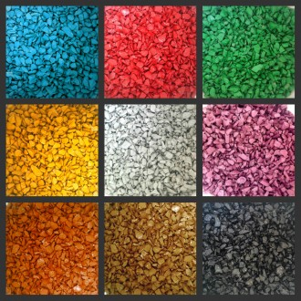 Цветной декоративный щебень для ландшафтного дизайна. Чернигов. фото 1