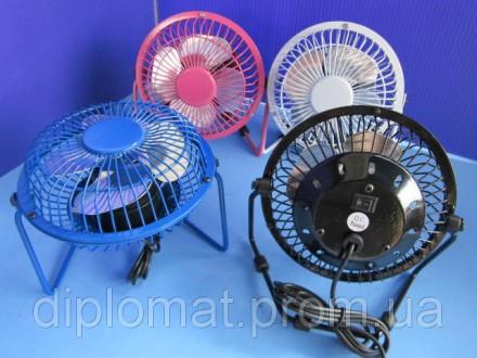 Настольный вентилятор mini Quat usb (металлический корпус, пластик лопасти) Подк. Одесса, Одесская область. фото 2
