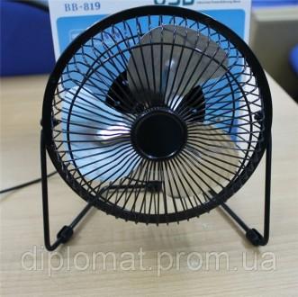 Настольный вентилятор большой 212х107х203мм, Quat usb (металлический корпус, мет. Одесса, Одесская область. фото 2