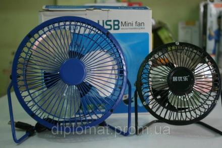 Настольный вентилятор большой 212х107х203мм, Quat usb (металлический корпус, мет. Одесса, Одесская область. фото 3