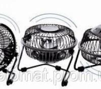 Настольный вентилятор mini Quat usb (металлический корпус, металлические лопасти. Одесса, Одесская область. фото 4