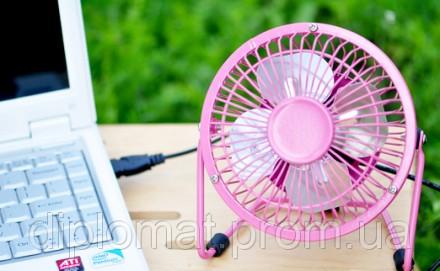 Настольный вентилятор mini Quat usb (металлический корпус, металлические лопасти. Одесса, Одесская область. фото 3