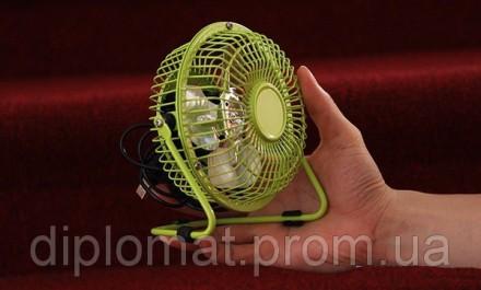 Настольный вентилятор mini Quat usb (металлический корпус, металлические лопасти. Одесса, Одесская область. фото 2