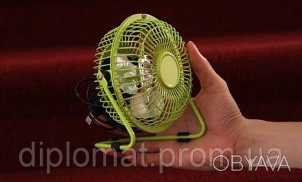Настольный вентилятор mini Quat usb (металлический корпус, металлические лопасти. Одесса, Одесская область. фото 1