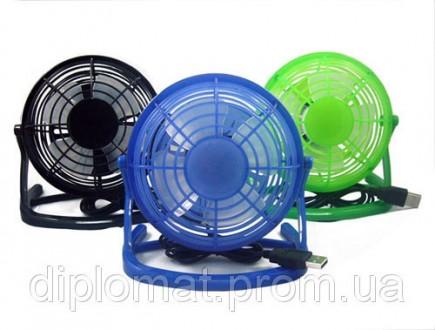 Настольный вентилятор mini Quat usb (пластиковый корпус и лопасти) Вентилятор пр. Одесса, Одесская область. фото 2