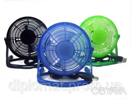 Настольный вентилятор mini Quat usb (пластиковый корпус и лопасти) Вентилятор пр. Одесса, Одесская область. фото 1