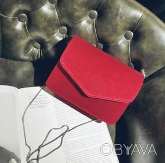 Материал текстиль Внутри один отдел Размер сумки 20*15,5*5 см Длина цепочки 112 . Запорожье, Запорожская область. фото 1