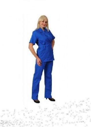 Комплект рабочий женский состоит из брюк прямого покроя и блузона с возможностью. Белая Церковь. фото 1