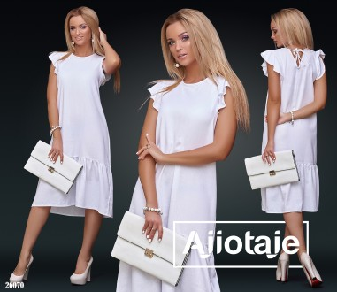 Стильное и модное льняное платье 26070 цвета. Киев. фото 1