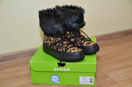 Сапоги Crocs Lodge Point Lace Snow Boot р.35,38. Бровари. фото 1