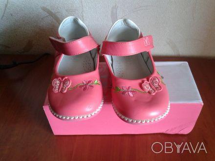 Туфли в хорошем соcтоянии,застежка липучка,хорошо фиксирует ножку ребенка,удобна. Днепр, Днепропетровская область. фото 1