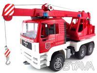 BRUDER (Брудер) Пожарный автомобиль с краном (свет и звук) (02770) Стрела крана. Чернигов, Черниговская область. фото 7