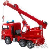 BRUDER (Брудер) Пожарный автомобиль с краном (свет и звук) (02770) Стрела крана. Чернигов, Черниговская область. фото 3
