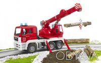BRUDER (Брудер) Пожарный автомобиль с краном (свет и звук) (02770) Стрела крана. Чернигов, Черниговская область. фото 5