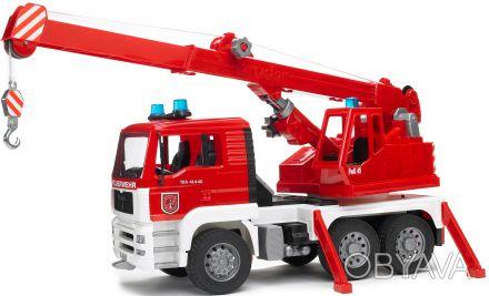 BRUDER (Брудер) Пожарный автомобиль с краном (свет и звук) (02770) Стрела крана. Чернигов, Черниговская область. фото 1