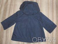 Плащ Jasper Conran Junior на  0-3 месяца. Смотрится стильно и нарядно.Темно-сине. Суми, Сумська область. фото 4