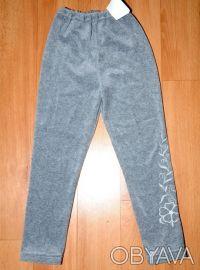 Лосины велюровые для девочки, с вышивкой, новые. 100% хлопок, производитель Укра. Одесса, Одесская область. фото 2