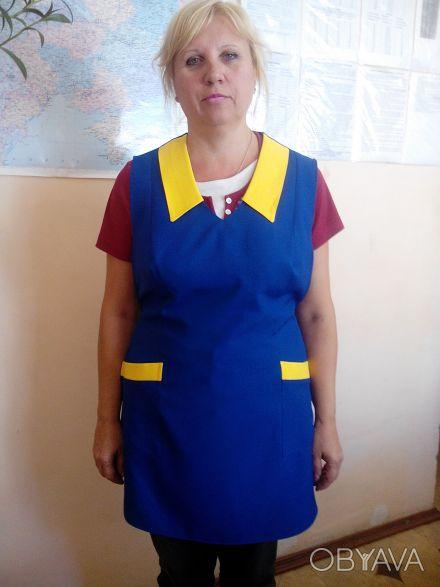 Фартук-накидка для сферы обслуживания, женская, ткань габардин.