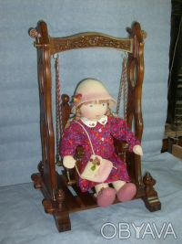 Игрушка Предлагаем  - мебель для куклы. Качели для кукол – сделаны своими рука. Днепр, Днепропетровская область. фото 4