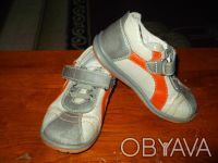 Продам туфли (кроссовки) на мальчика. Верх - кожзам, внутри кожа. Размер 25, по . Чернигов, Черниговская область. фото 3