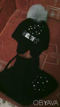 Продам шикарный НОВЫЙ наборчик- шапочка и шарфику. Ручная вязкая. Мягкий и тёплы. Кривой Рог, Днепропетровская область. фото 3