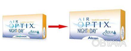 Контактные линзы AIR OPTIX NIGHT & DAY AQUA - силикон-гидрогелевые линзы с реком. Киев, Киевская область. фото 1