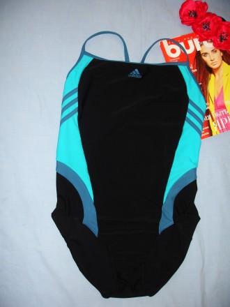 53412e35aabd1 Adidas купальник спортивный сдельный для бассейн размер 48-50 / 16 черный  сплошн