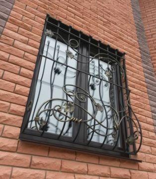 Решетки на окна: кованые, сварные. Днепр. фото 1