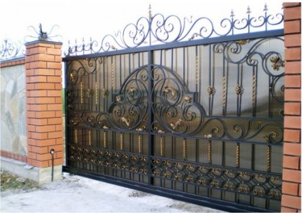 Кованые ворота, сварные ворота, заборы, калитки. Днепр. фото 1