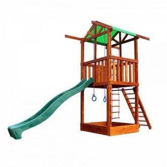 Детский домик горка спортивно-игровой комплекс Бебиленд-1. Днепр. фото 1