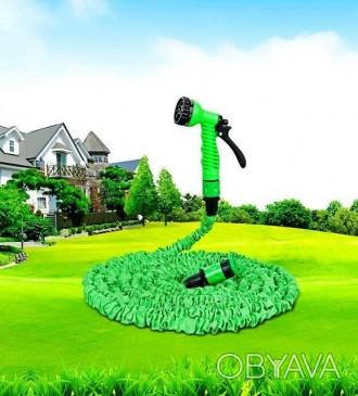Шланг X HOSE 15m 50ft steel, садовый шланг x hose, шланг для полива x hose 15м 5
