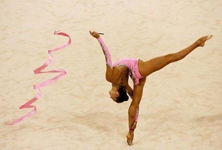 Гимнастическая лента 6м Розовая Тайвань. Одесса. фото 1