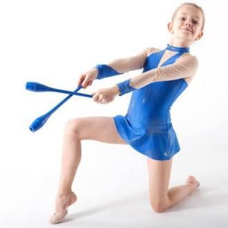 Булавы гимнастические синие Тайвань L=35см. Одесса. фото 1